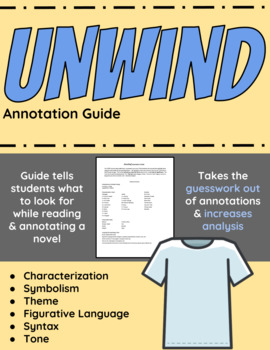unwind study guide teaching resources teachers pay teachers rh teacherspayteachers com Winter Dreams Study Guide Answers Sample of a Study Guide