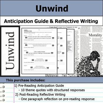 Unwind - Anticipation Guide & Reflection Writing
