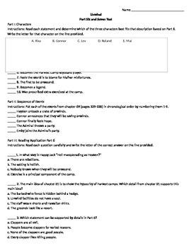 Unwind Parts 6-7 Assessment