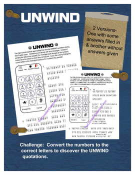 Unwind Quotations Solve the Puzzle Worksheet
