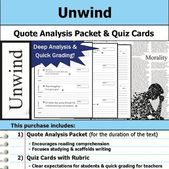 Unwind - Quote Analysis & Reading Quizzes
