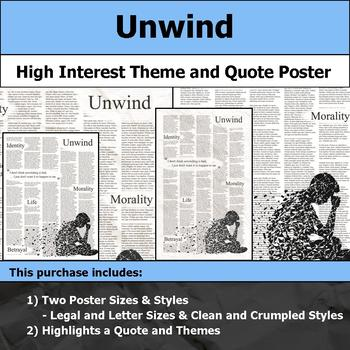 Unwind - Visual Theme and Quote Poster for Bulletin Boards