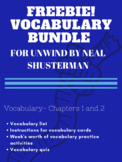 FREEBIE Unwind by Neal Shusterman ch.1-2 vocabulary activi