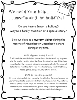 Unwrap the Holidays with Mystery Visitors