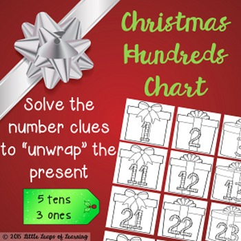 Unwrap the Presents Christmas Hundreds Chart