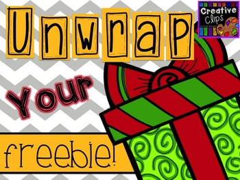 Unwrap your FREEBIE Christmas Clipart {Creative Clips Clipart}