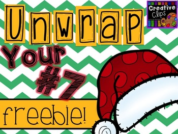 Unwrap your FREEBIE Number 7 {Creative Clips Digital Clipart}