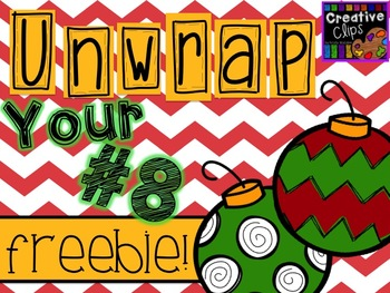 Unwrap your FREEBIE Number 8 {Creative Clips Digital Clipart}