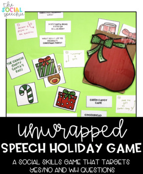 Unwrapped Social Skills Holiday Speech Game