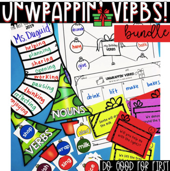 1 Unwrappin' Verbs Bundle ~ Holiday Stations Pack!
