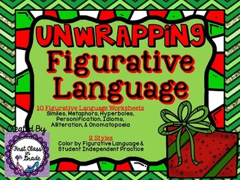 Unwrapping Figurative Language (Christmas Literary Device Unit)