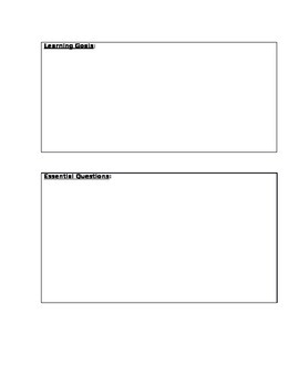 Unwrapping Standards Template