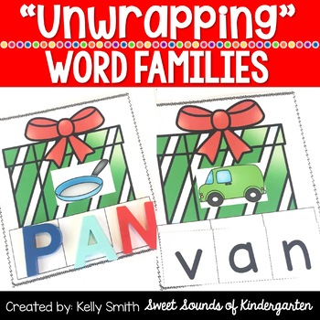Christmas CVC Words Centers {Unwrapping Word Families}