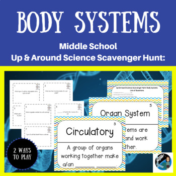 Up & Around Science Scavenger Hunt: Body Systems {NGSS MS-LS1-3}
