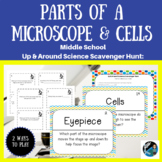Up & Around Science Scavenger Hunt: Microscope Parts & Cells {NGSS MS-LS1-1}