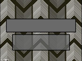 Up & Down Arrow Dark Grey & White PowerPoint Template