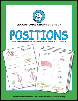 """Positions: Up Down and All Around - 4.25"""" x 5.5"""" Color"""