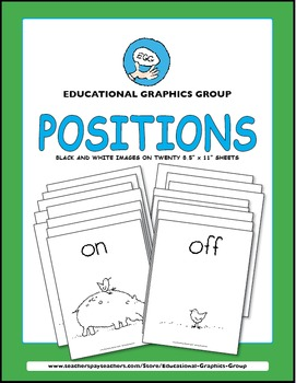 """Positions: Up Down and All Around - 8.5"""" x 11"""" Black and White"""