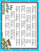 Up In The Air Full Sheet Dotted Letter with Line Alphabet