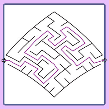 Up! Mazes with Solutions Clip Art Set for Commercial Use
