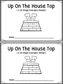 Up On The Housetop (A 2D Shape Emergent Reader)