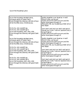 Up On The Housetop- Simplified Lyrics and Hand Motions Elementary Christmas