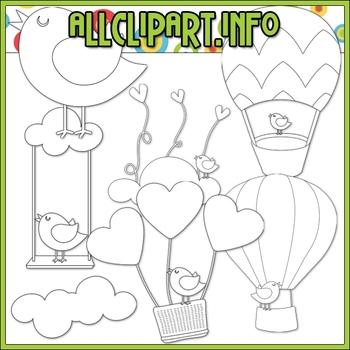 BUNDLED SET - Up, Up & Away 1 Clip Art & Digital Stamp Bundle