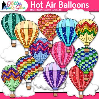 Hot Air Balloon Clip Art {Spring and Summer Graphics for Classroom Decor}