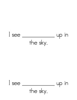 Sight Word Emergent Reader: Up, Up, Up! (up)