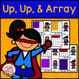 """Repeated Addition Center """"Up, Up and Array"""" (Superhero Theme)"""
