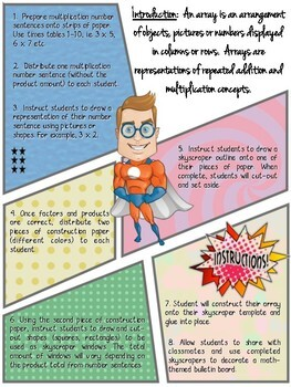 Up, Up and Array! Superhero Multiplication