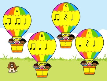 Up, Up and Away - A Game for Practicing Half Notes.