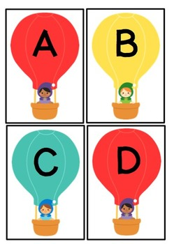 Up, Up and Away!  Letter and Sound Matching Activity