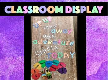 Up Up and Away Our Adventure Starts Today - Class Display - Editable Balloons