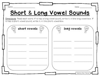 Up, Up, and Away! - Short and Long E Practice Pack