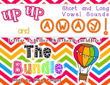 Up, Up, and Away! - Short and Long Vowel Sounds - THE BUNDLE!