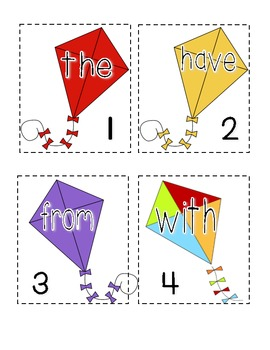 Up, Up, and Away! (Spring Kite Sight Word Literacy Station Activity)
