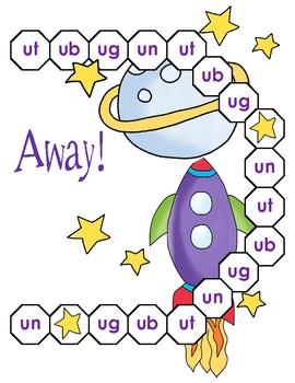 Up, Up, and Away! Ut, Ub, Ug, and Un Word Family File Folder Game