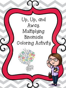 Up Up and Away with Binomials Coloring Activity