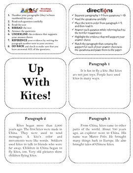Up With Kites Collage (Close Reading/Text Evidence)