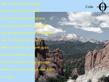 """Up With People's """"Colorado!""""  Sing-Along PowerPoint"""