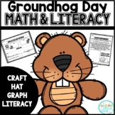 Groundhog Day {Math & Literacy} Pack - includes Hats and Craft!