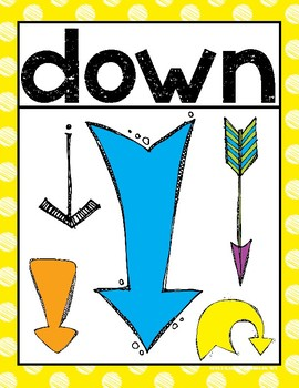 Up and Down {Posters/Signs} for the Primary Classroom
