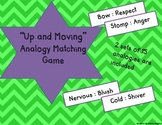 """""""Up and Moving"""" Analogy Matching Game-COMMON CORE and STAAR"""