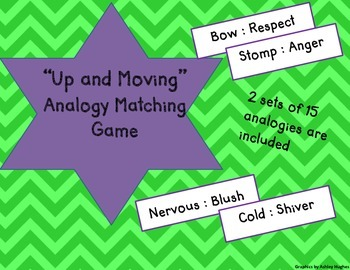 """Up and Moving"" Analogy Matching Game-COMMON CORE and STAAR"