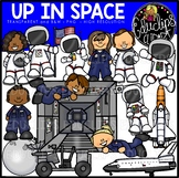 Up in Space Clip Art Bundle {Educlips Clipart}