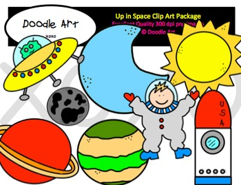 Up in Space Clipart Pack