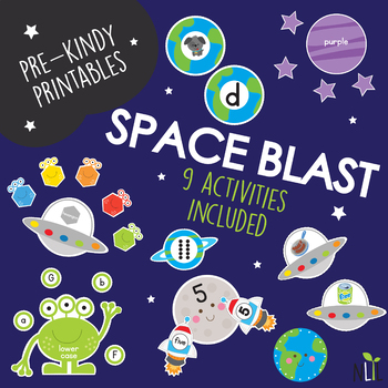 Up in Space Preschool Pack