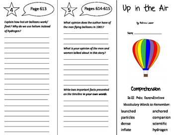 Up in the Air Trifold - California Treasures 5th Grade Unit 5 Week 4