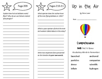 Up in the Air Trifold - Treasures 5th Grade Unit 2 Week 4 (2011)